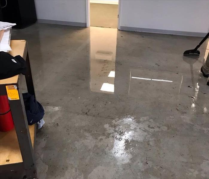 Floor damaged by water leak