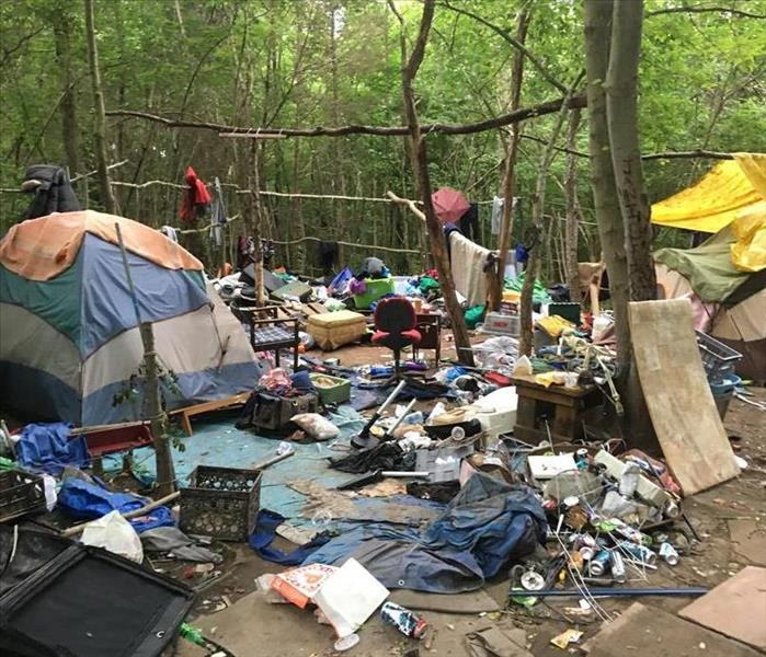 Commercial Homeless Encampment Clean-out